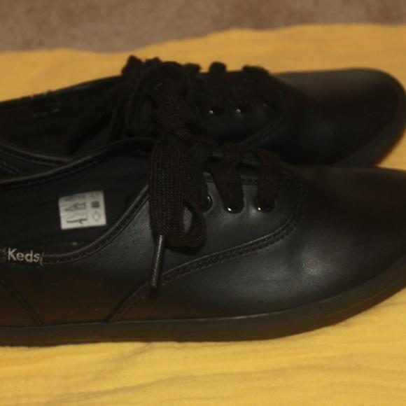 Keds Shoes | Kids Leather Black Sz 15m